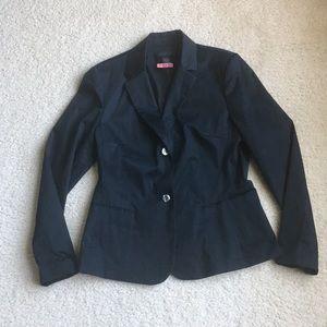 ⚡️SALE⚡️EXPRESS Stretch black 2-button blazer